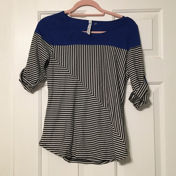 NY Collection Tops - Colorblock Striped Top
